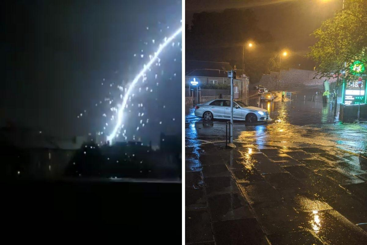 'I've never seen anything like this': Watch as thunderstorm turns streets into rivers