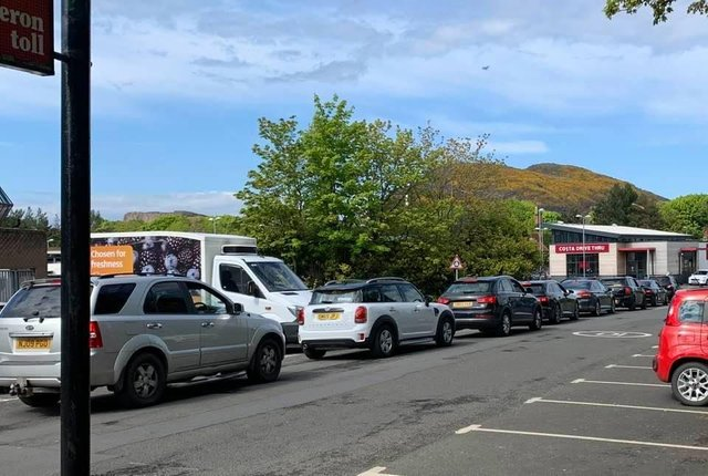Queues up to 20 cars long waited over the weekend