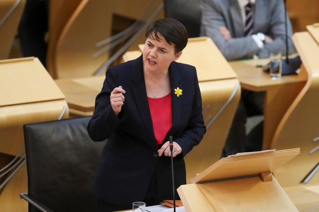 Ruth Davidson, pictured earlier this month, said the SNP's priority is 'to divide us all over again'. Picture: Getty Images.