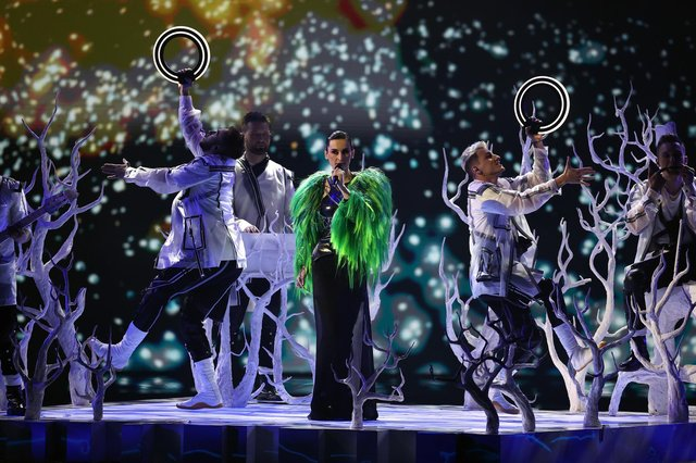 ROTTERDAM, NETHERLANDS - MAY 21: Go_A of Ukraine during the 65th Eurovision Song Contest dress rehearsal held at Rotterdam Ahoy on May 21, 2021 in Rotterdam, Netherlands. (Photo by Dean Mouhtaropoulos/Getty Images)