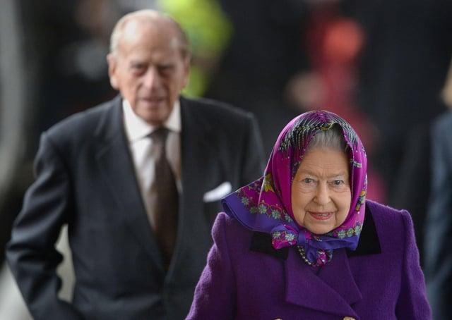 Queen Elizabeth and the Duke of Edinburgh.