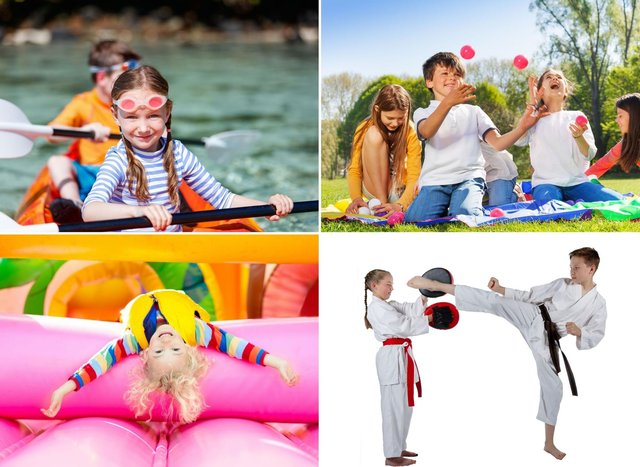 A few of the fun sporty activities available in and around Edinburgh over the school holidays.