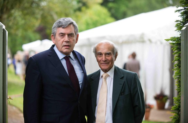 Gordon Brown and and Dr Hector Chawla   Picture: Alex Hewitt/Writer Pictures