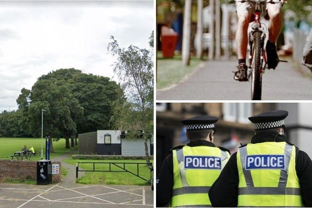 Police have received two reports this month of wire being tied across Newcraighall park's cycle track.