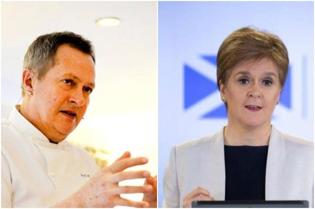 A group of Scottish chefs includingNick Nairn (pictured) have highlighted their fears for the sector in the midst of the Covid-19 pandemic in an open letter to the First Minister.
