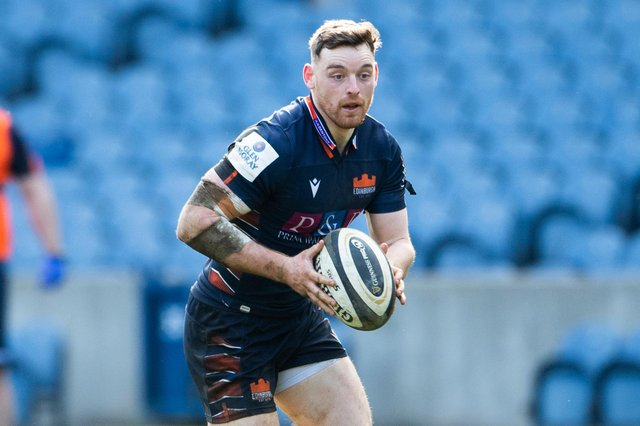 Edinburgh's George Taylor has returned to action after surgery to repair a broken jaw, cheekbone and nose. Picture: Paul Devlin/SNS