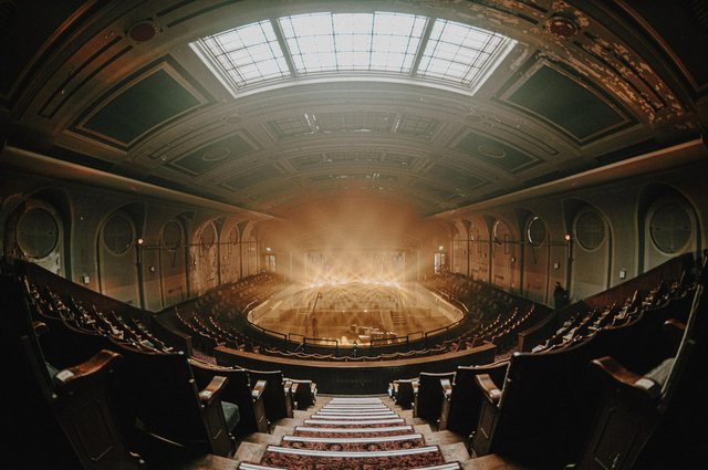 Leith Theatre's art deco auditorium.