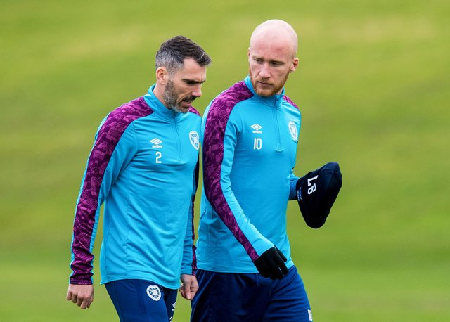 Michael Smith and Liam Boyce are both key players for Hearts.