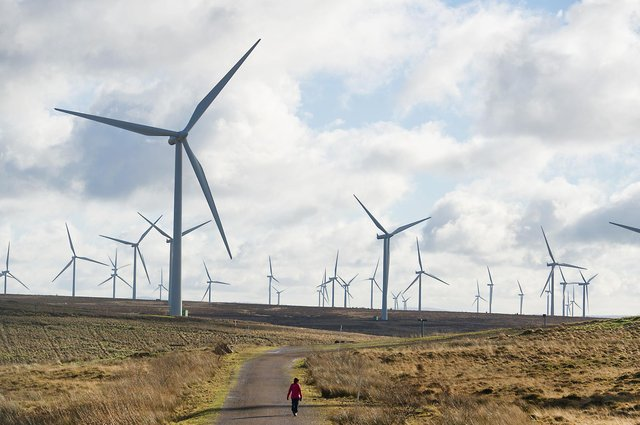 Amazon has now invested in 6.5 gigawatts of wind and solar projects that will enable it to supply renewable energy for its corporate offices, fulfilment centres and data centres around the world. Picture: John Devlin