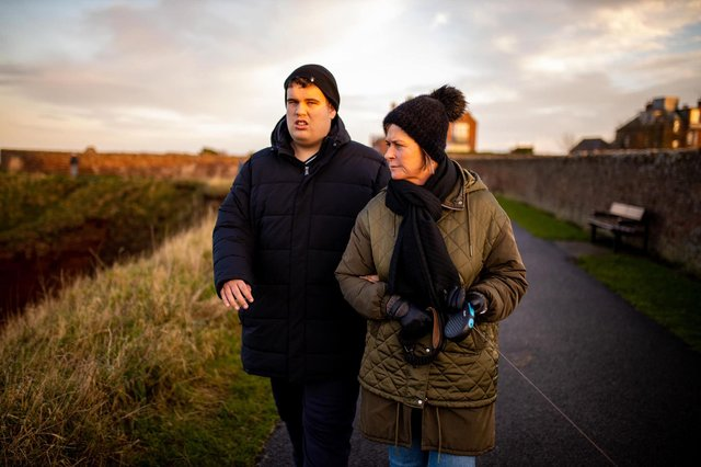 Blair Christie, 21, with mum Donna Christie, 53.