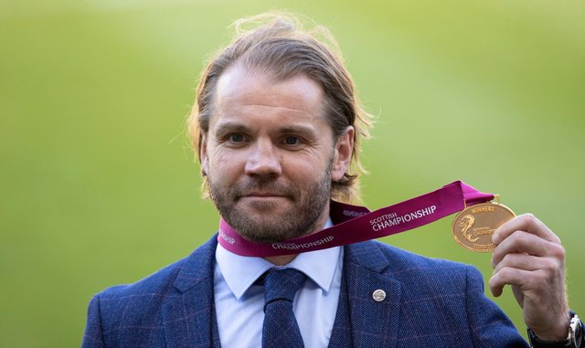 Robbie Neilson has won Glen's Manager of the Month for April. Picture: SNS