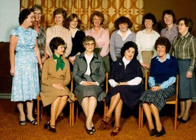 Richard Jackson's granny, Margaret (front row, second from left), with colleagues on the day of her retirement from the Sick Kids Hospital.