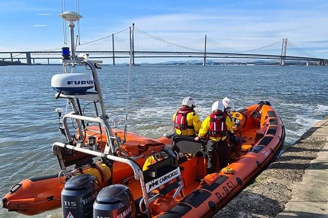 The RNLI urges Cramond Island visitors to check tide times as stranding on the Firth of Forth island increases (Photo: RNLI).