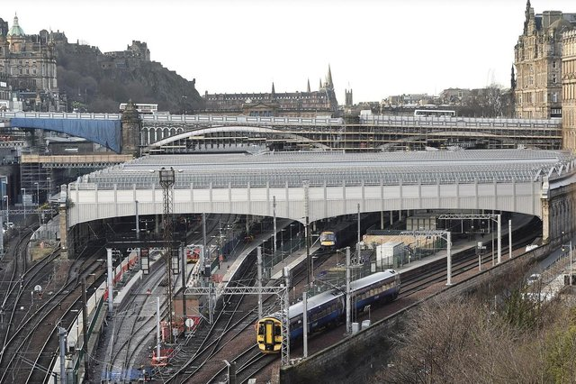Edinburgh Waverley train station.