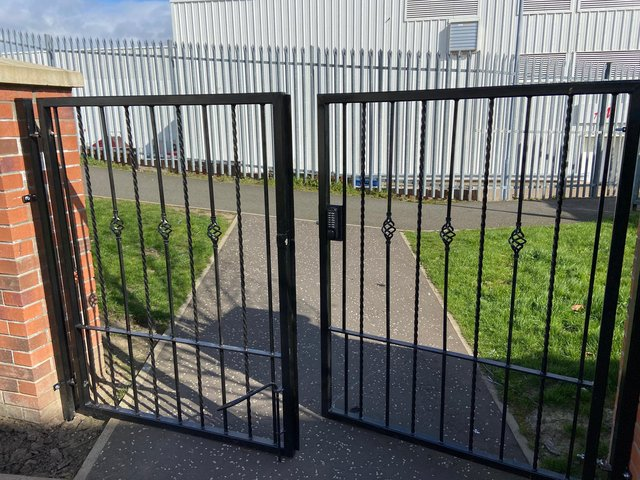 Residents had the gate built amid child safety concerns despite the council rejecting their planning application