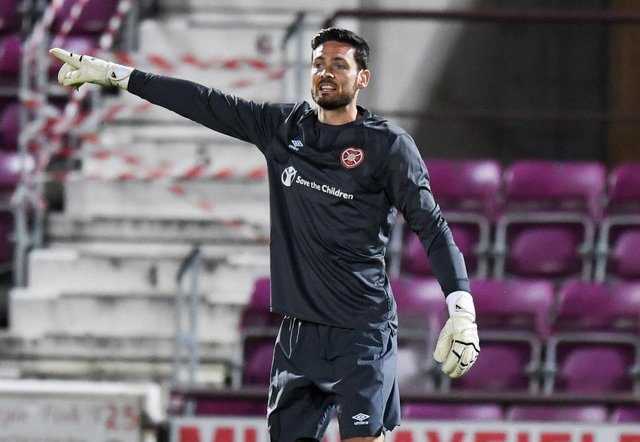 Craig Gordon has been in constant dialogue with Harry Stone. Picture: SNS