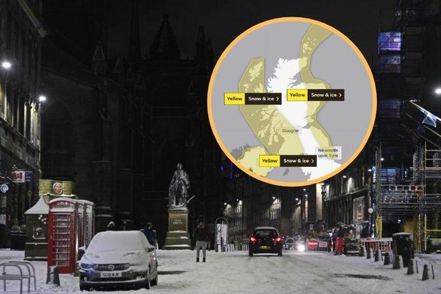 Yellow warning remains in place but the Met Office predicts warmer conditions are on the way.