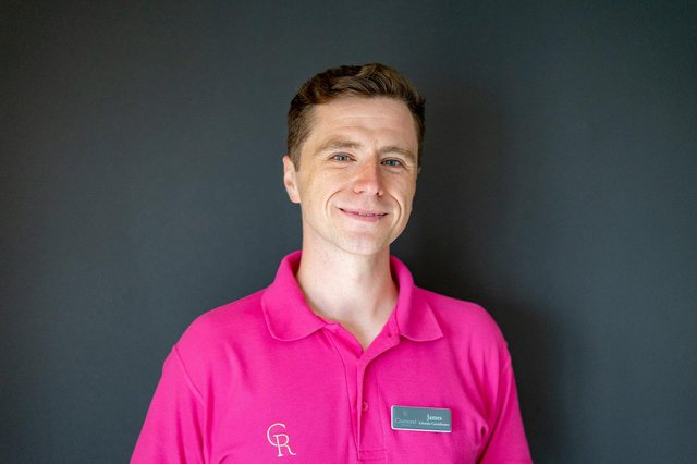 James McDiarmid has been working to help older residents get comfortable with tech, including by encouraging them to use an app to identify plants and flowers in the care home's extensive gardens