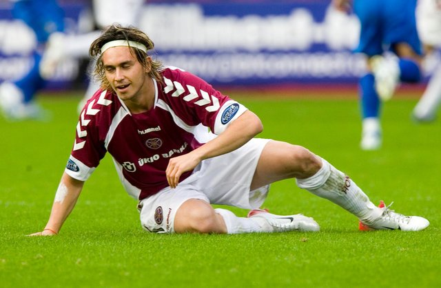 Mauricio Pinilla played only a handful of times for Hearts during a difficult period in his career. Picture: SN