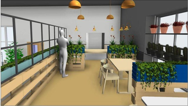 Students got involved to help design the interior space of a local café set-up to reduce the gap between food poverty and food waste.