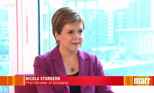 Nicola Sturgeon appeared on Marr this morning