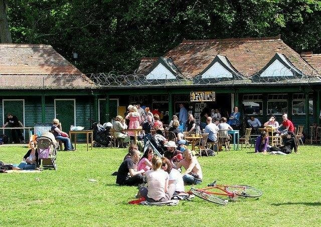 The Meadows Pavilion Cafe is a popular spot for all oages