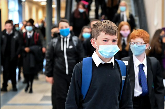 The EIS said masks should still be worn in communal areas when school return after summer.