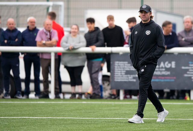 Hearts manager Robbie Neilson at Ainslie Park.