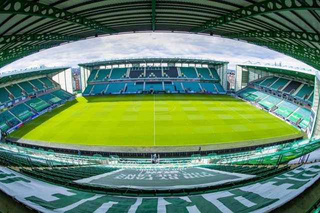 Residents have raised concerns about mass gatherings in the Easter Road area if Hibs win the Scottish Cup on Saturday. Pic: Mark Scates/SNS