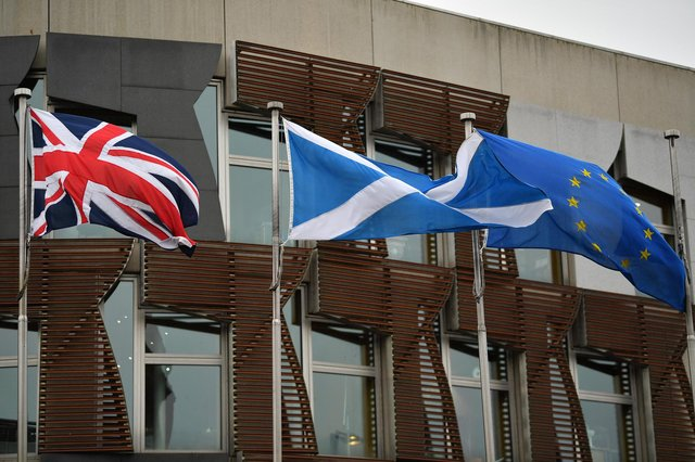 Scotland's future in the UK after Brexit is an issue which splits opinion almost evenly ahead of the Scottish Parliament election (Picture: Jeff J Mitchell/Getty Images)