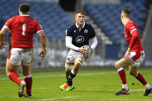Matt Fagerson will miss Scotland's match against France due to an ankle injury. Picture: Jane Barlow/PA