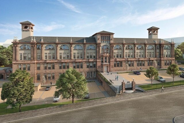The former Boroughmuir High School has been transformed into a luxury development.