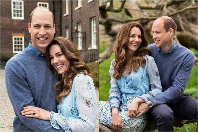 Kate and William posed for pictures earlier this week at their residence, Kensington Palace (Picture: Chris Floyd/Camera Press)
