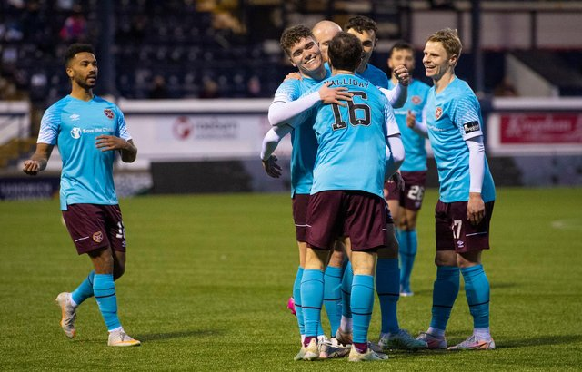 Hearts' last match was a 4-0 win over Raith Rovers on April 30.