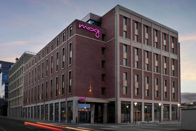 The new Moxy hotel has opened in Edinburgh's Fountainbridge