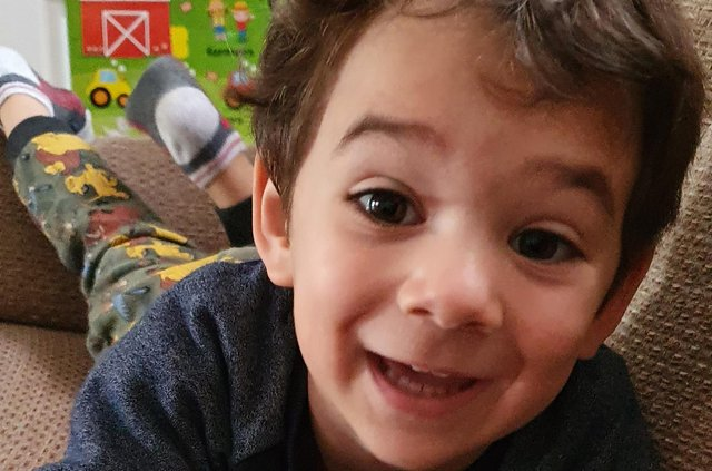 Two-year-old Alex Radan, who died following a road crash in Charnwood Place, Dumfries.