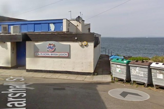 The row surrounds the bins by the club. Picture: Google