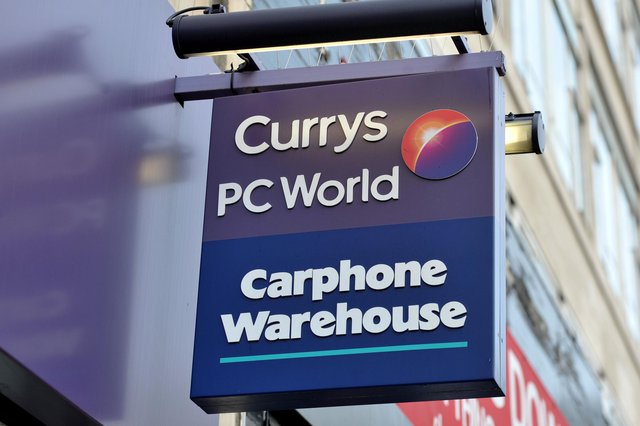 The electricals retailer said Currys PC World, Carphone Warehouse, Team Knowhow and Dixons Carphone will all become Currys by October, with a new Currys website also set to be launched. Picture: Nick Ansell/PA