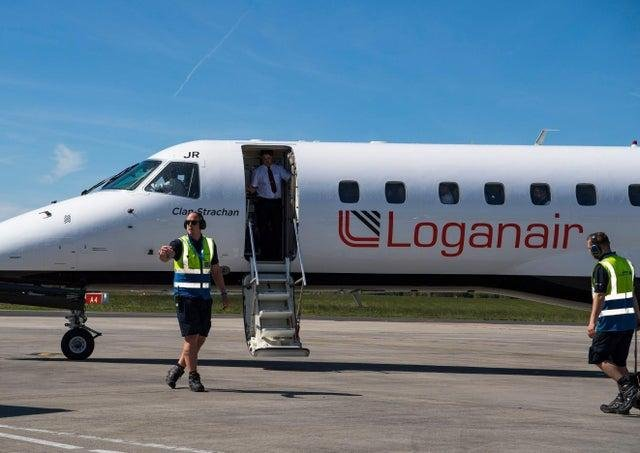A Loganair flight, similar to the one pictured, has been forced to land at Edinburgh Airport