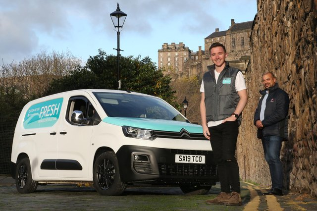 Sam Brennan and Tino Nombro of Fresh Mobile Car Valeting. Picture: Stewart Attwood
