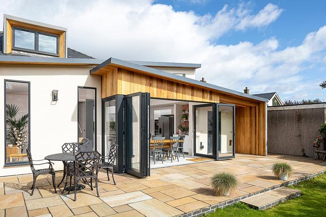 A contemporary extension in Edinburgh designed by CSY Architects. Picture: Ross Campbell