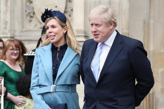 Prime Minister Boris Johnson and partner Carrie Symonds - the pair are said to have exchanged vows in Westminster Cathedral in front of a small group of close friends and family (Photo: PA Images)