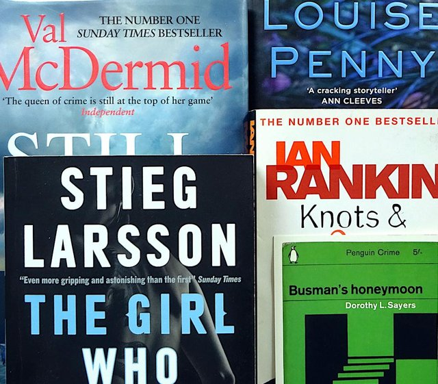 Crime fiction will feature heavily among the paperbacks on sale