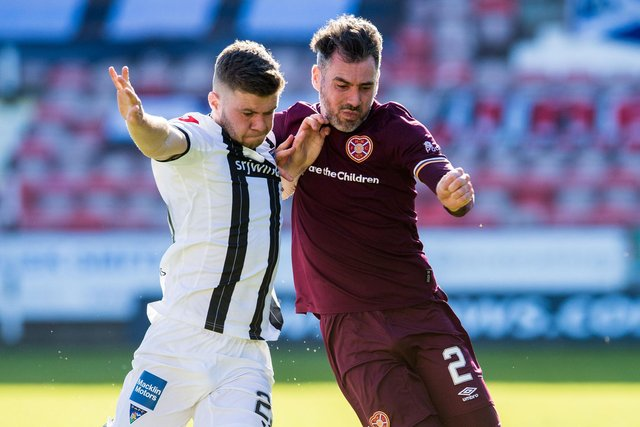 Michael Smith impressed for Hearts against Dunfermline.