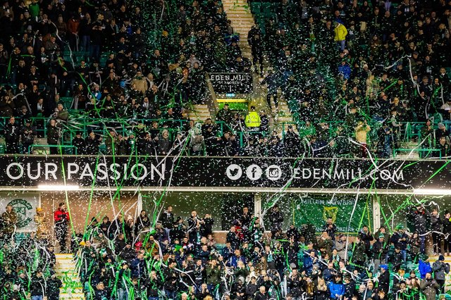 Hibs supporters have bought up season tickets hoping to be allowed back into grounds sooner rather than later. Picture: SNS