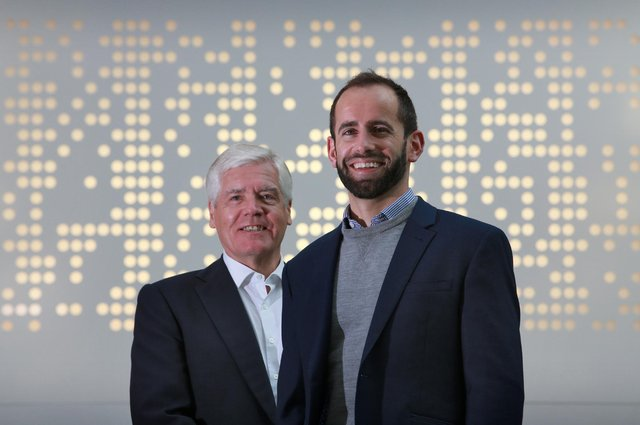 Sir Sandy Crombie and Callum Murray of Amiqus. Picture: Stewart Attwood