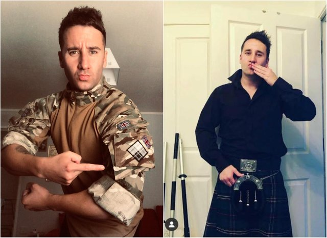 Marc donned a kilt during the virtual awards.