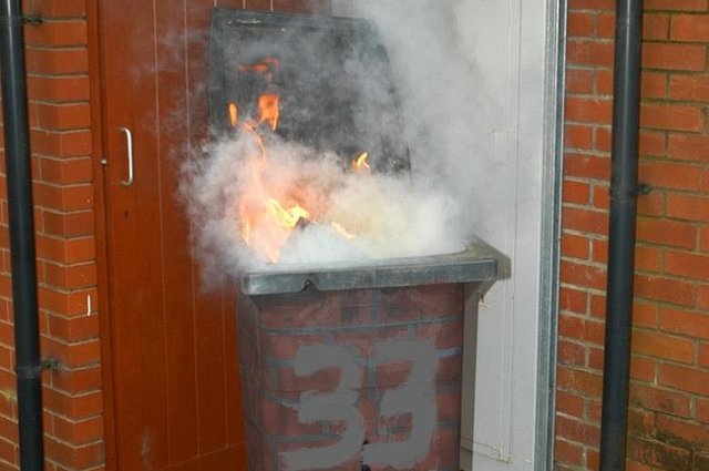 Wheelie bin fires on the rise in Edinburgh according to Scottish Fire and Rescue Service.
