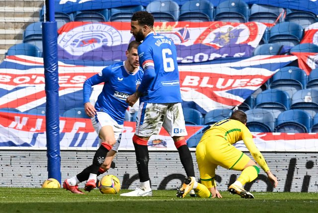 Martin Boyle goes down under this challenge from Connor Goldson.