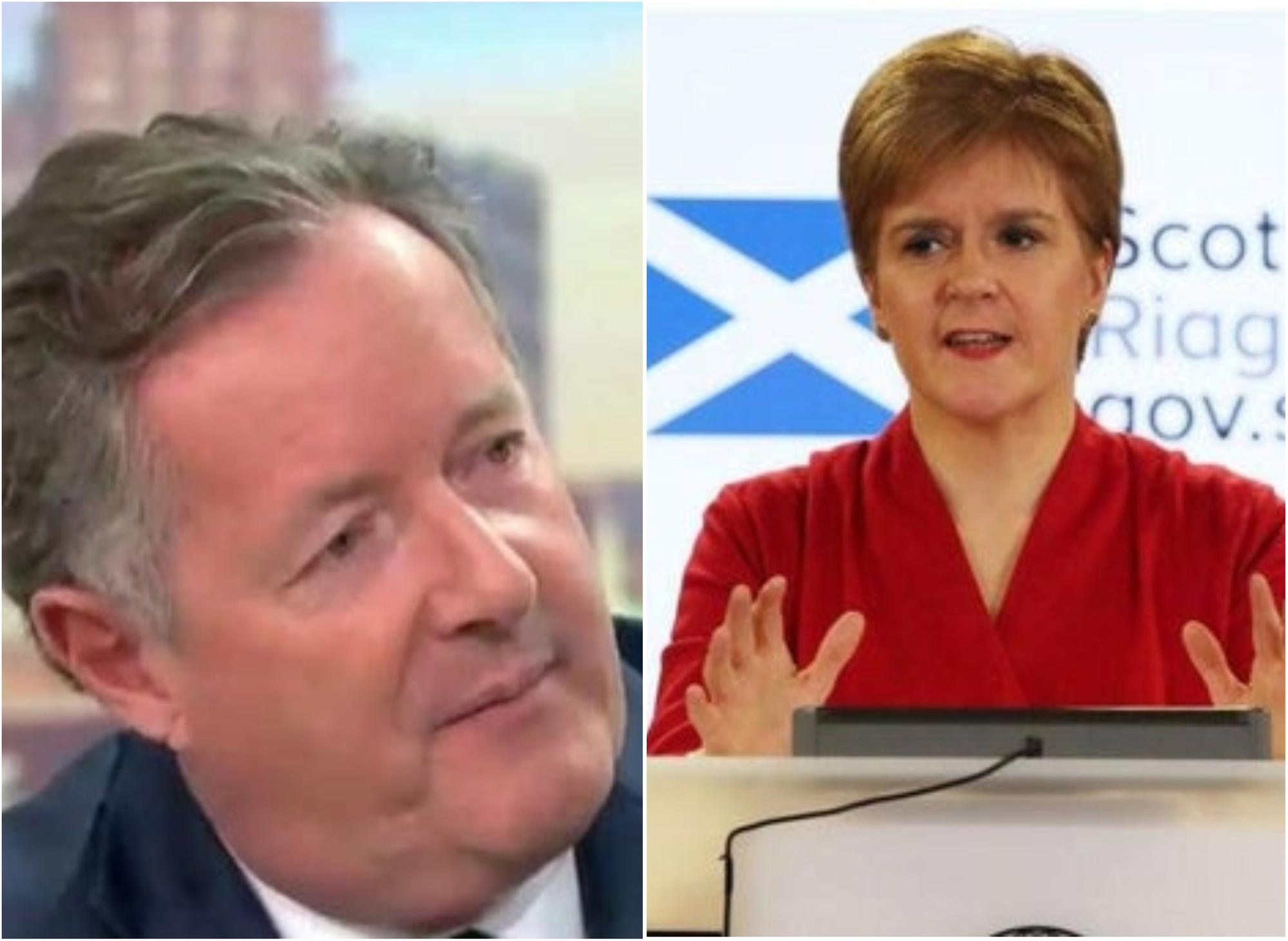 Nicola Sturgeon hits back at Piers Morgan over claim she's dodging interview on Catherine Calderwood situation